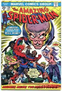 AMAZING SPIDER-MAN #138 1974-Bronze Age-Wild Cover FN/VF