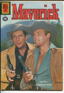 MAVERICK #12 1961-DELL-JACK KELLY-ROGER MOORE-TV SERIES PHOTO COVER-vf