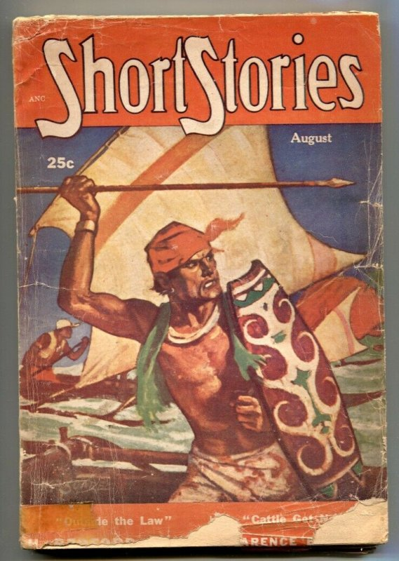 Short Stories Pulp August 1952- Wild Kuhlhoff cover VG-