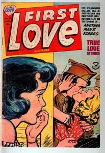 FIRST LOVE #31-1953-MILITARY ROMANCE COVER ART-CRIME ISSUE-VG-SPICY ART VG