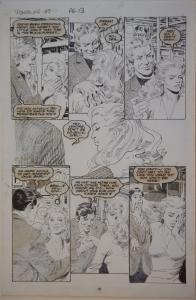 GRAY MORROW original art, POWERLINE #7 pg 13,11x17, 1989, more art in store