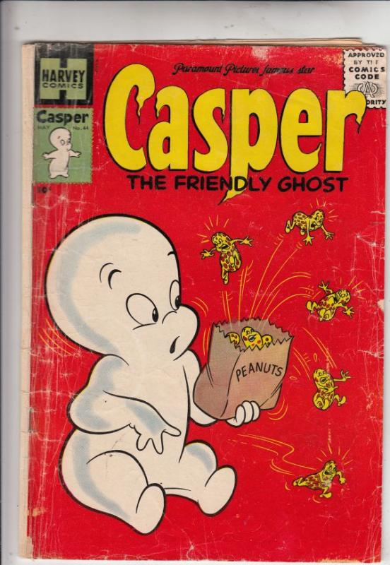 Casper the Friendly Ghost #44 (May-56) VG Affordable-Grade Casper, Spooky, We...