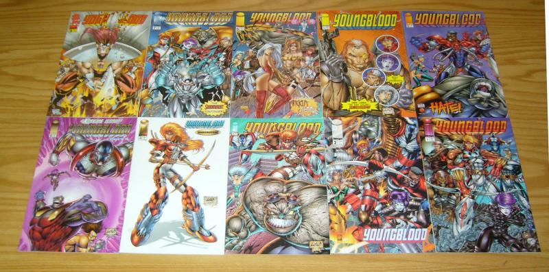 Youngblood vol. 2 #1-14 VF/NM complete series + (2) variants +(4) more - liefeld