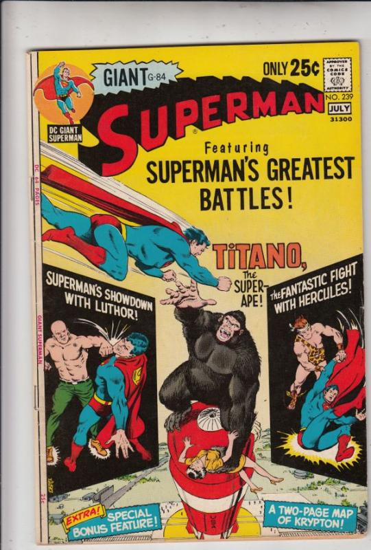 Superman #239 (Jul-71) VF/NM High-Grade Superman, Jimmy Olsen,Lois Lane, Lana...