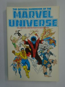 Official Handbook of the Marvel Universe TPB #5 SC 7.0 FN VF (1987)