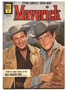 Maverick #17 1961- Dell TV Western Comic- Roger Moore- Jack Kelly- VF/NM