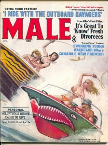 Male 8/1968-Atlas-Pussycat-Bill Ward-Emmett Kaye bikini girls-whips-cheesecake-F