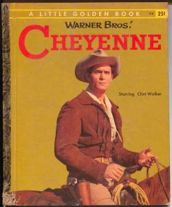 Cheyenne #318 1958-Little Golden Book-Clint Walker TV show-VG