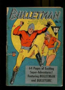 BULLETMAN 1-1941-BULLETGIRL-SILVER METALIC COVER G