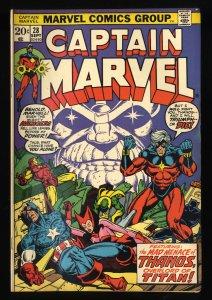 Captain Marvel (1968) #28 VG 4.0 4th Thanos!