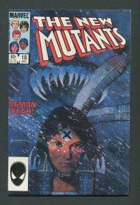 New Mutants #18  / 9.0 VFN/NM   August  1984
