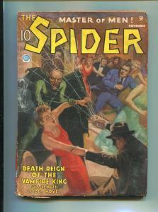 SPIDER NOVEMBER 1935-POPULAR PUBLISHING-JOHN HOWITT-VG-