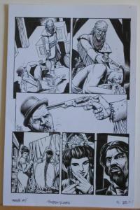 TIMOTHY TRUMAN original art, HAWKEN #5, Pg #21, Time for a talk, 11x17, 2011