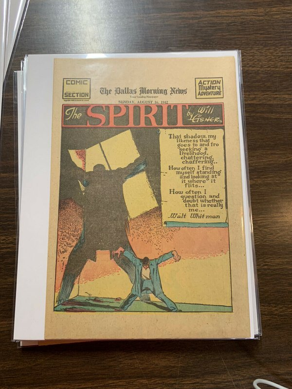 The Spirit Comic Book Section Newspaper Very Fine Or Better 1942 August 16