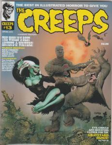 THE CREEPS #13,  CORBIN COVER - SUPER CREEPY COMIC HORROR MAGAZINE.