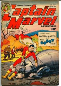 CAPTAIN MARVEL ADVENTURES #129-GREAT ROBOT COVER VG+