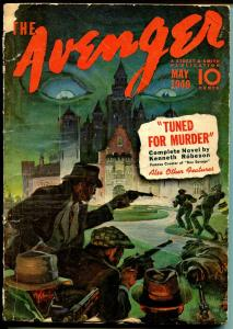 Avenger 5/1940-Thrilling-Kenneth Robeson-classic hero pulp-VG-