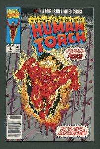 Original Human Torch #1  / 9.8 NM-MT  Newstand  April 1990