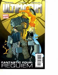 Lot Of 2 Marvel Comic Books Ultimatum Fantastic Four Requiem #1 X-Men #1 BF3