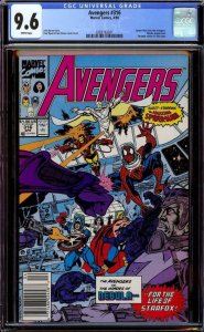 AVENGERS #316, CGC = 9.6, NM+, Spider-man joins, Nebula, Byrne,more CGC in store