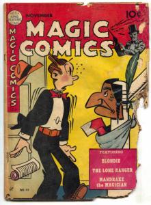Magic Comics #112 1948- EXTREMELY LOW GRADE COPY