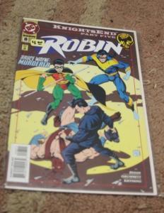 Robin comic #8 (Jul 1994, DC) bruce wayne murderer knightsend pt 5 nightwing