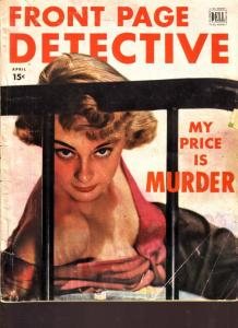 Front Page Detective Magazine April 1951- True Crime
