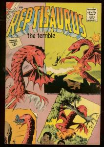 REPTISAURUS THE TERRIBLE #4 1962-CHARLTON COMIC-MONSTERS-HORROR FN