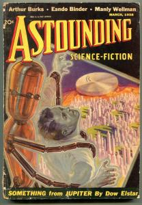 Astounding Pulp March 1938- Science Fiction- Eando Binder- Robot cover