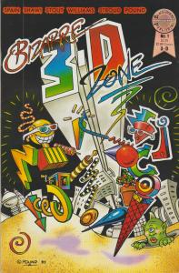BIZARRE 3-D  ZONE #1 - 3-D COMIC FROM BLACKTHORNE