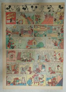 Mickey Mouse Sunday Page by Walt Disney from 6/24/1945 Tabloid Page Size