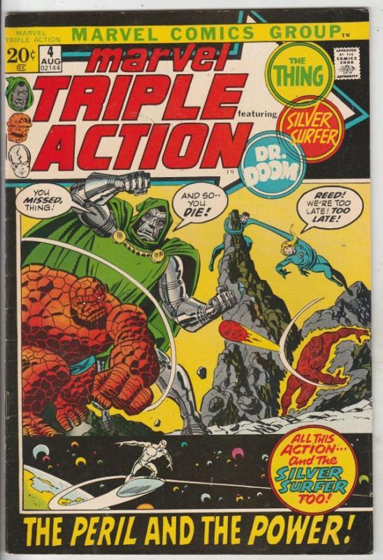 Marvel Triple Action #4 (Aug-71) VF High-Grade Fantastic Four