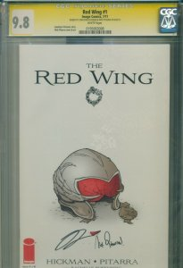 Red Wing CGC SS 9.8 HIGHEST GRADE  Signed 2X HICKMAN & PITARRA Image July 2011