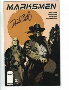Marksmen #3 VF/NM; signed by David Baxter - Image Comics - Dave Elliott 2011
