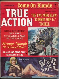True Action  6/1965-Atlas-Tiny China- Bama-Copeland-pulp-death reacketeers-FN