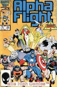 ALPHA FLIGHT (1983 Series)  #39 Very Fine Comics Book