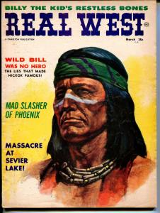 Real West 3/1962-Wild Bill Hickok-Mad Slasher of Phoenix-VG