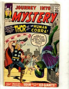 Journey Into Mystery # 98 VG/FN Marvel Comic Book Thor Loki Odin Cobra Sif DS4