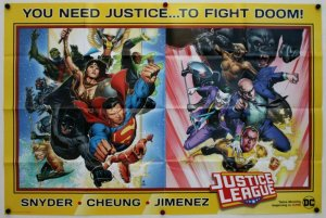 Justice League Justice to Fight Doom! Folded Promo Poster [P44] (36 x 24)