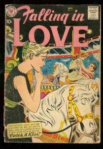 FALLING IN LOVE #21 1958-DC ROMANCE  MERRY-GO-ROUND CVR G