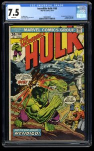 Incredible Hulk (1962) #180 CGC VF- 7.5 White Pages 1st Cameo Wolverine!