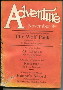 Adventure 11/8/1936-Butterick-pulp thrills T.S. Stribling Chinatown story-FR/G