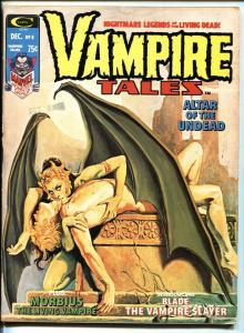 Vampire Tales #8 1974 First SOLO BLADE story.
