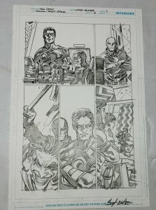 Scot Eaton Joker Death In The Family Red Hood Original Art Batman Robin Eternal