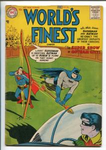 WORLD'S FINEST #86 1957-DC-BATMAN-SUPERMAN-TOMAHAWK-GREEN ARROW-vg+
