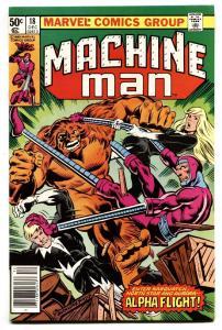 Machine Man #18 1980 Alpha Flight-Marvel comic book VF/NM