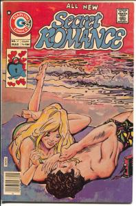 Secret Romance #37 1976-Charlton-beach scene cover-psychedelic art-FN
