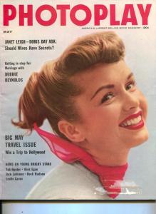 Photoplay-Debbie Reynolds-Jack Lemmon-Tab Hunter-Rock Hudson-Leslie Caron-May-19