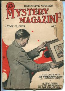 MYSTERY MAGAZINE 6/15/1923-EARLY DETECTIVE/CRIME PULP-FREDERICK C PARIS-fr/good