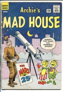 ARCHIE'S MADHOUSE #18 1962-SCI-FI HORROR-ROBOTS-ALIENS-NEW FORMAT BEGINS-good